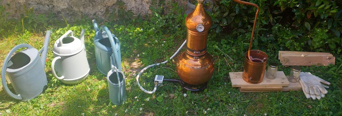 Distillation d'un hydrolat, 29 août 14h30 – 16h30